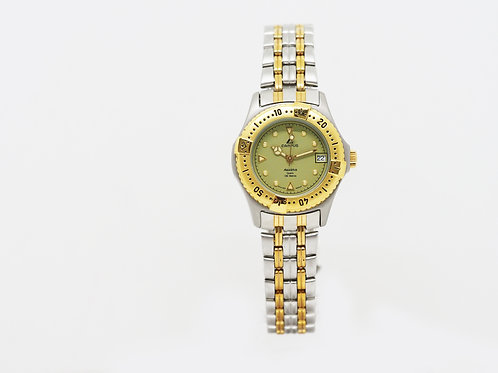 CAMPUS Sports Classic with date green/gold/bi-colour CA5936STG-YL front view
