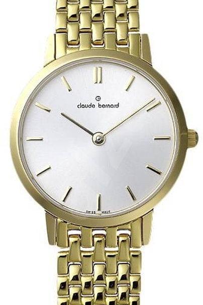 Claude Bernard Classic White|Gold|Gold/Silver CB20201-37JM-BR front view