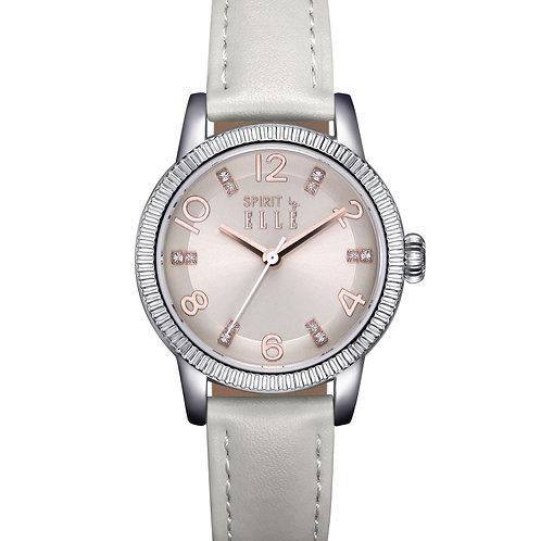Elle silver dial with grey strap ES21007S04X