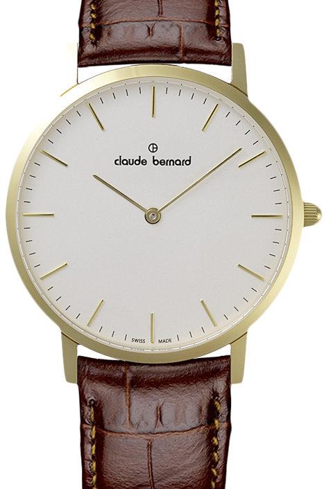 CLAUDE BERNARD CLASSIC white|gold|brown CB20202-37J-AID front view