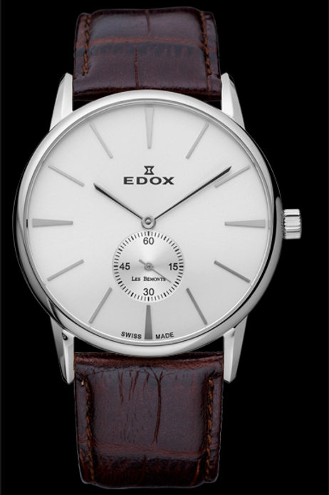 Edox Les Bemont Small seconds Handwinding ED72014-3-AIN front view