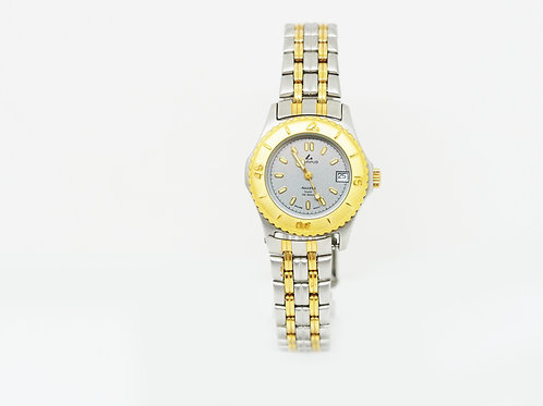 CAMPUS Sports Classic with date grey/gold/bi-colour CA5938STG front view