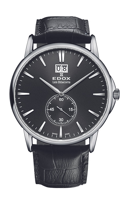 Edox Les Bemont Small seconds ED64012-3-NIN front view