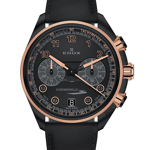 EDOX CHRONORALLY-S CHRONOGRAPH ROSE ED09503-37NRCN-NNR front view