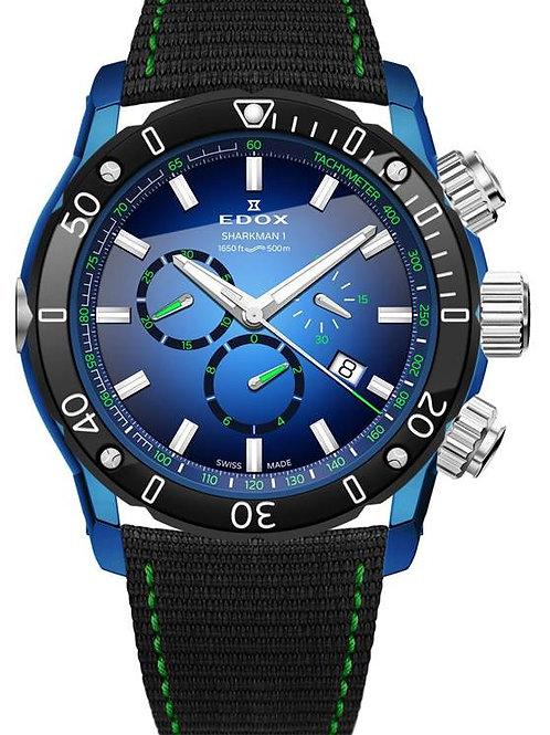 EDOX Sharkman-1 Limited Edition ED10221 357BU BUV front view