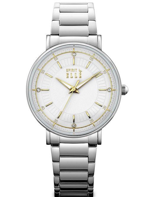Elle white dial gold index in stainless steel bracelet ES20135B03X