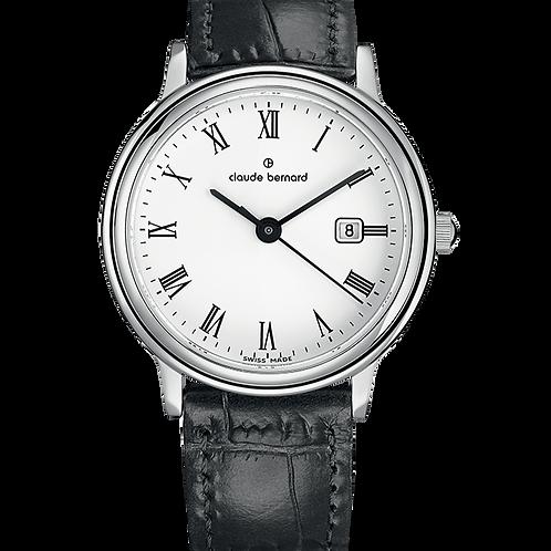 Claude Bernard Classic Gents/Ladies White|Silver|Black CB54005-3-BR