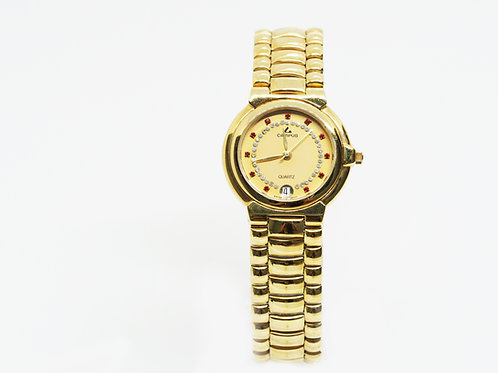 CAMPUS Classic Crystal with date red/gold/gold CA5773P-YFS front view