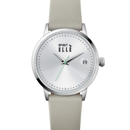 Elle Steel case, Silver White Sunray dial, Grey strap ES20146S01X