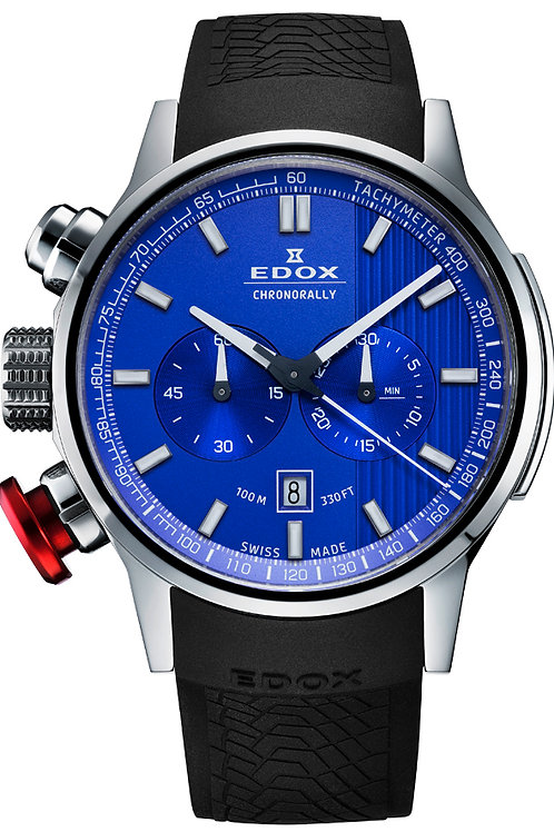 Edox Chronorally Chronograph ED10302-3-BUIN front view