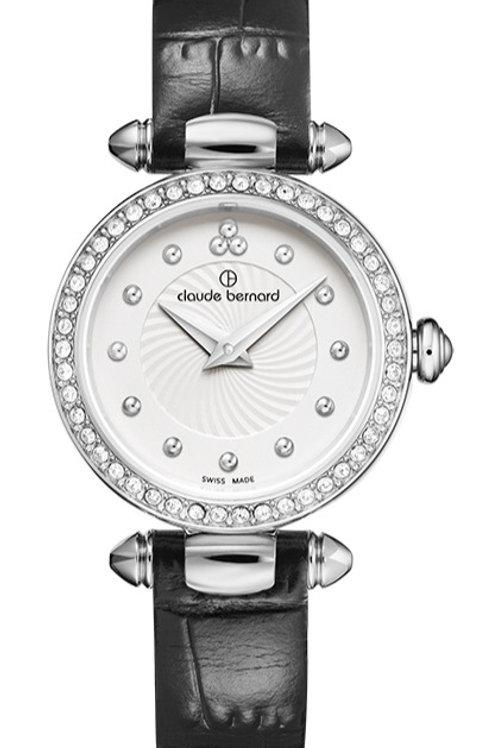 Claude Bernard Dress Code Silver|Silver|Black CB20209-3P-AIN front view