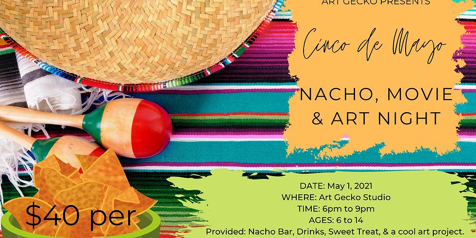 Nacho, Movie, and Art Night