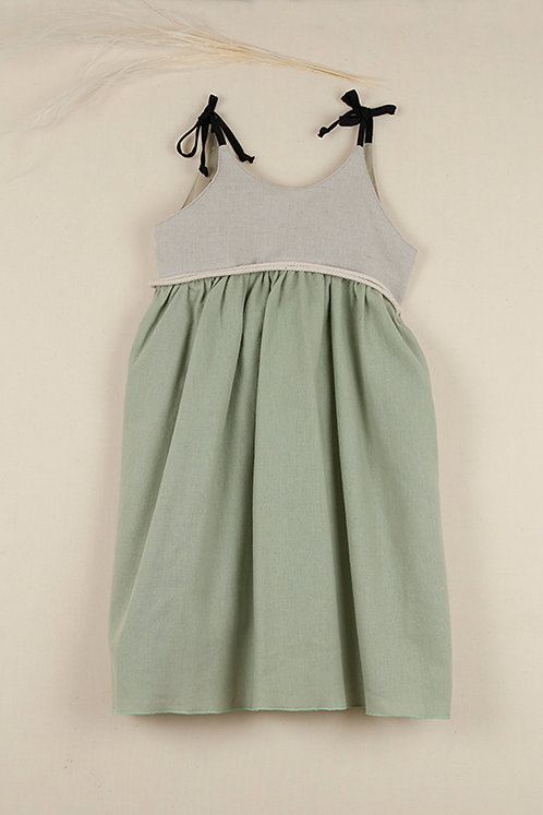 Green Reversible Dress with Straps