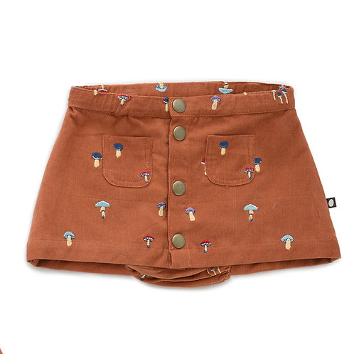 Snap Button Skirt With Bloomer