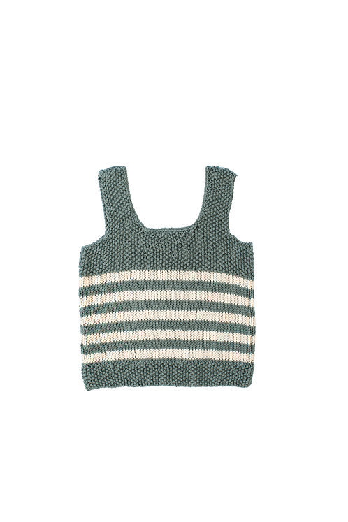 Olive Leaves Hand Knitted Top