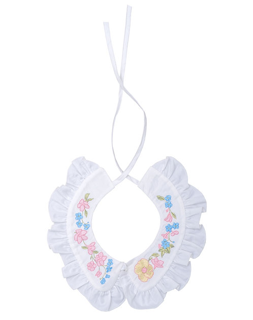 Cotton Collar Ruffles with Embroidery