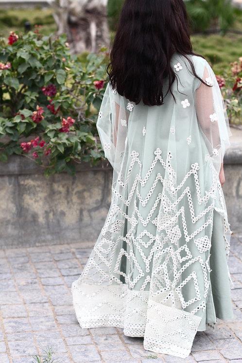 Traditional Tulle Kaftan Green