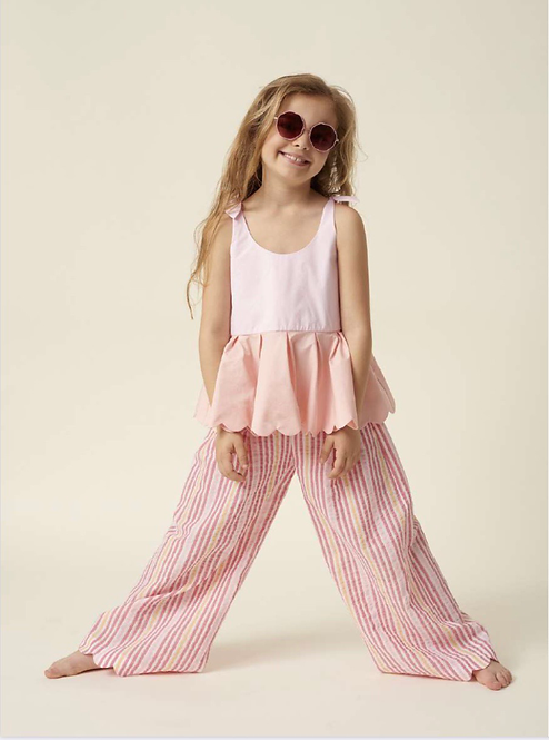 Eldoris Multi Pink Stripe Trousers