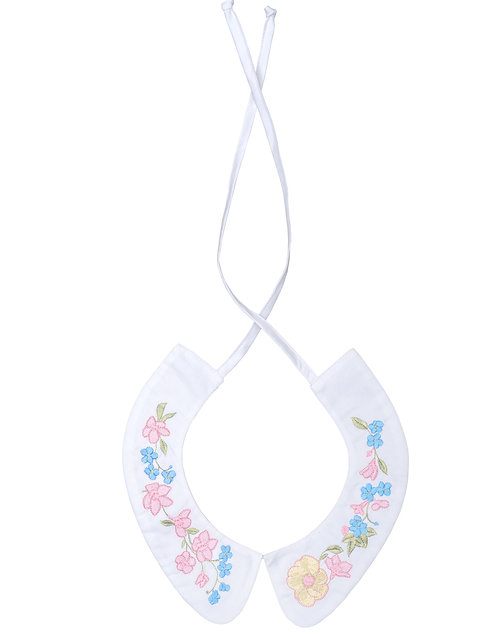 Cotton Collar with Embroidery