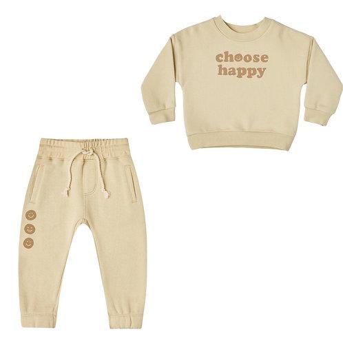 Choose Happy Crew Neck & Jogger Set