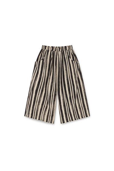 Swing Wide Pants Black Stripe