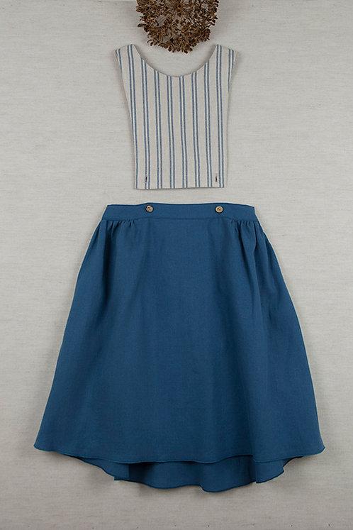 Blue Removable & Reversible Bib Dress