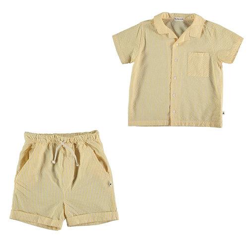 Seersucker Shirt & Bermuda Set