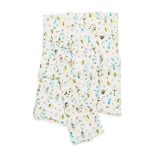 Muslin Swaddle- Cactus Floral
