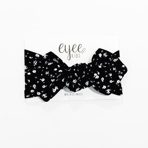 Top Knot - B/W Floral