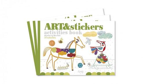 Art & Stickers Activity Book