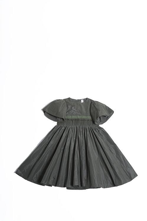 Asymmetrical Patchwork Gown