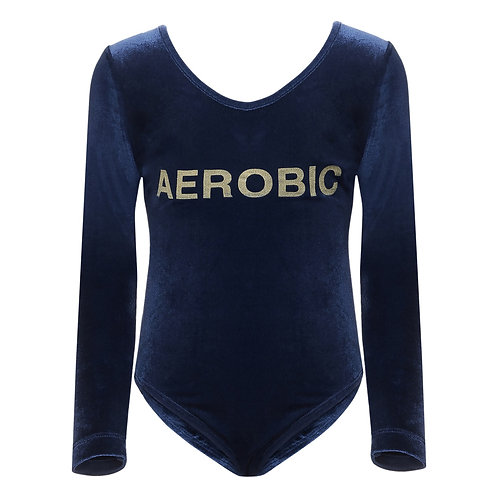 Aerobic Velour Bodysuit