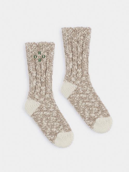 Grey Bobo Thick Socks