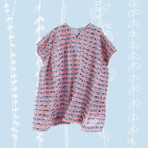 Pink and Navy Stripes Dress