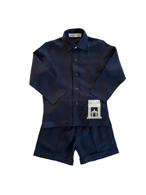 Alula Embroidered Boys Two Piece Set