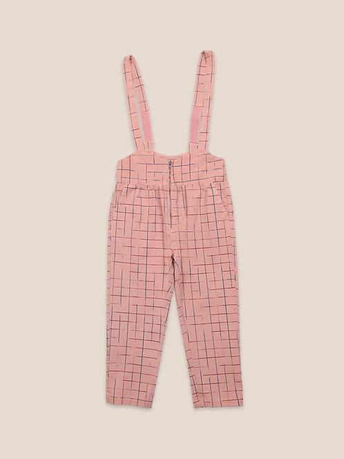 Grid Braces Pants