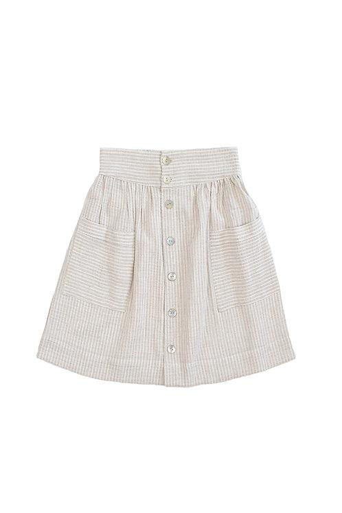 Alexa Beige Girls Skirt