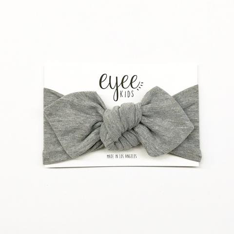 Top Knot- Solid Grey