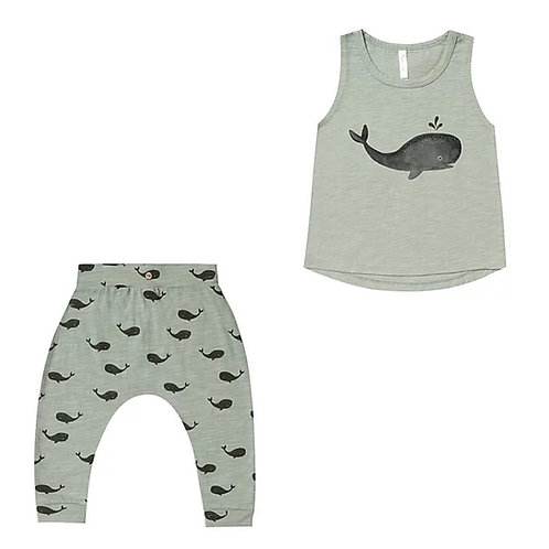 Set Of Whale Tank & Slouch Pant