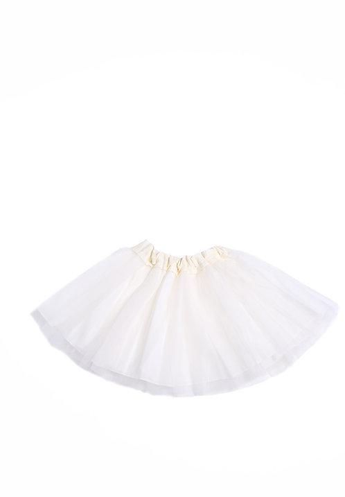 Mesh Overlay Twirl Skirt / Sugar