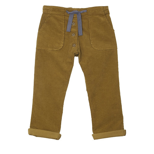 Bark-Color Corduroy Trousers