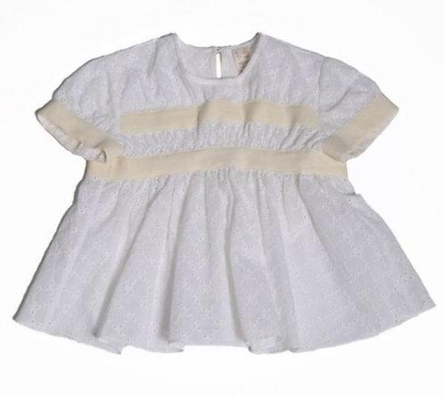Short sleeve farthingale blouse