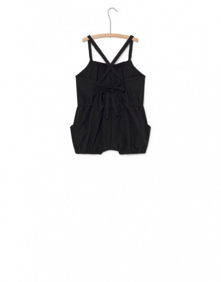 Baby Crushed Cotton Short Jumpsuit