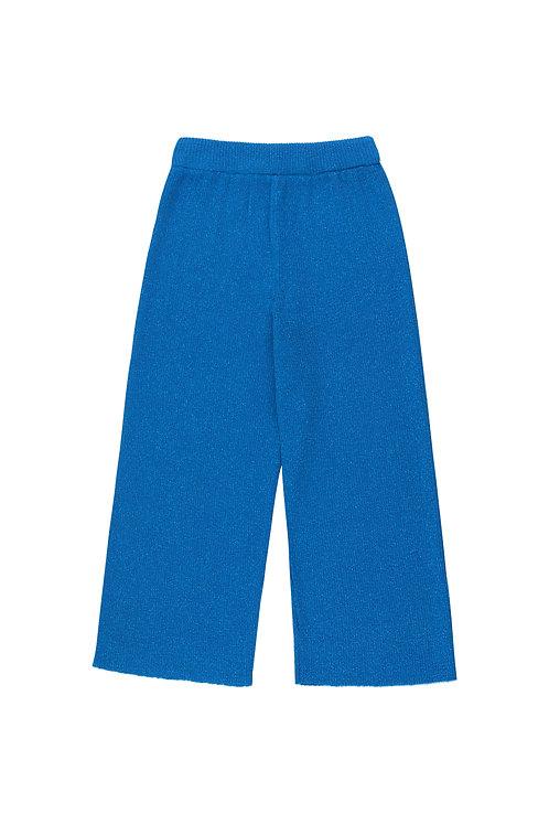 Shiny Rib Pant Cerelean Blue
