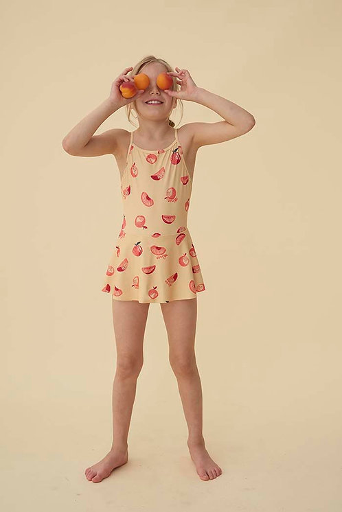 Aimi Swimsuit Jojoba, AOP Oranges