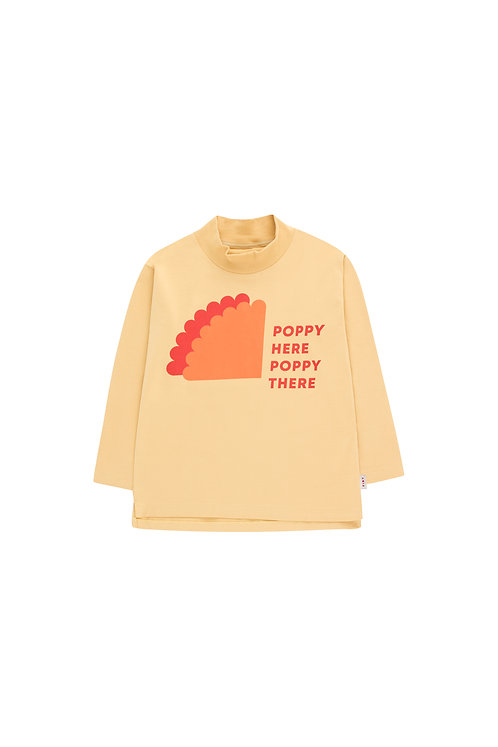 Poppy Sign LS Mock Neck Tee
