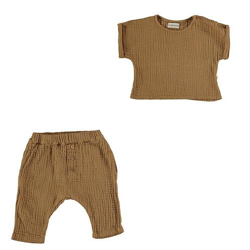 Organic Booble Top & Trousers Set