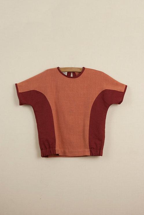 Orange Two Tone Shirt
