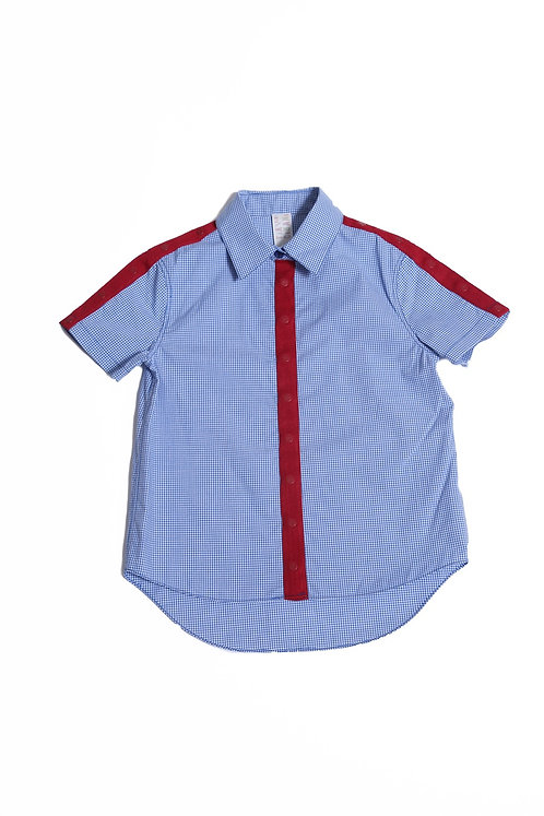 Multi Snap Classic Short Sleeve Shirt -Cobalt