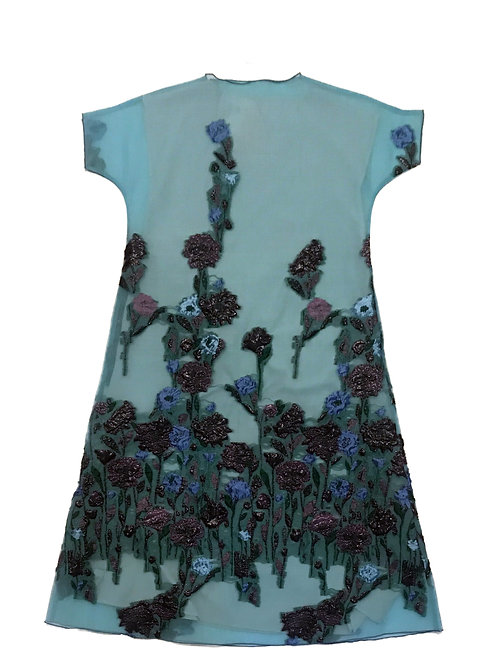 Blue Tea Floral Jacquard